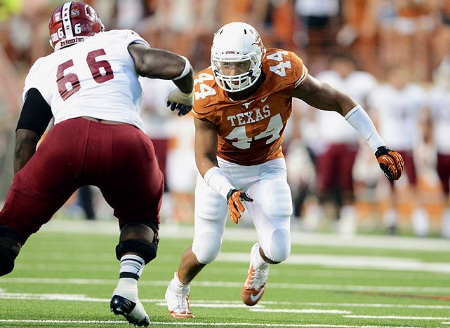 The 6-3 Jackson Jeffcoat may have no choice but to transition to a 3-4 OLB spot in the NFL, despite racking up 13 sacks for Texas last season. Eventually, the 2013 co-Big 12 Defensive Player of the Year should be able to pull off that shift, even if it takes him a little while to round out his game and pack on some pounds. <italics>Draft projection: Round 3</italics>