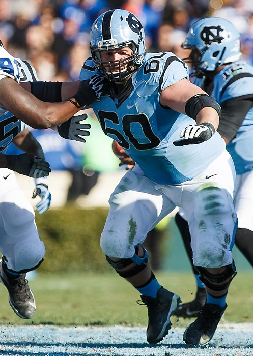 Russell Bodine ripped off 42 bench-press reps at the combine -- a nod to the power that his game thrived on for the Tar Heels. The 6-4 Bodine skipped his final year of college eligibility to enter the draft, which is a rarer move for interior linemen than at most other positions. He may have done so because there was little to gain by heading back. Bodine put in some time at guard in 2013, earning an All-ACC Honorable Mention nod in the process. Draft projection: Round 4