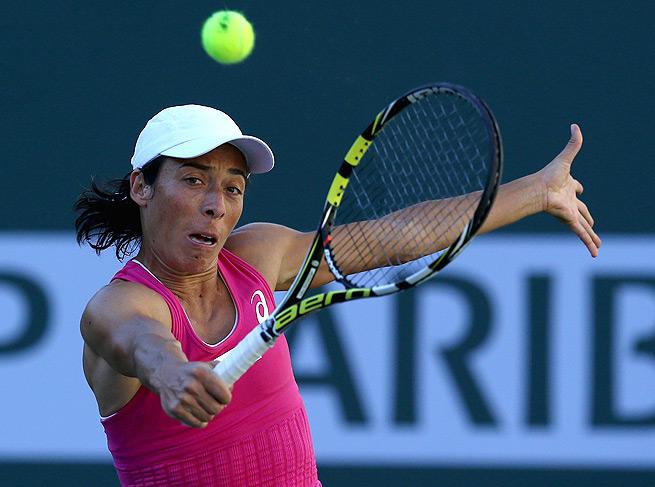 Francesca Schiavone couldn't keep up with qualifier Beatriz Garcia Vidagany, losing 6-3, 6-2.