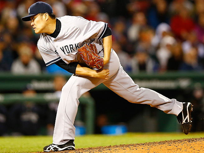 Masahiro Tanaka tossed eight strikeouts in his first visit to Fenway Park on April 22.
