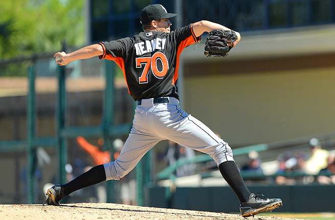 Andrew Heaney may be making a major-league start for the Marlins sooner rather than later.
