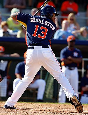 Jon Singleton already has 25 RBI for Triple-A Oklahoma City this season.