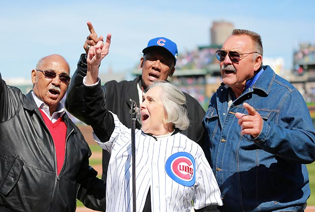 "Billy Williams, Dutchie Carey, Ernie Banks and Dick Butkus made it a point to be on hand to warble ""Take Me Out To The Bawlgame"" during the seventh Inning stretch as the Cubbies celebrated the 100th Anniversary of Wrigley Field with a little game of rounders vs. the Arizona Diamondbacks. Naturally, the hometown nine lost after coughing up a four-run lead in the ninth."