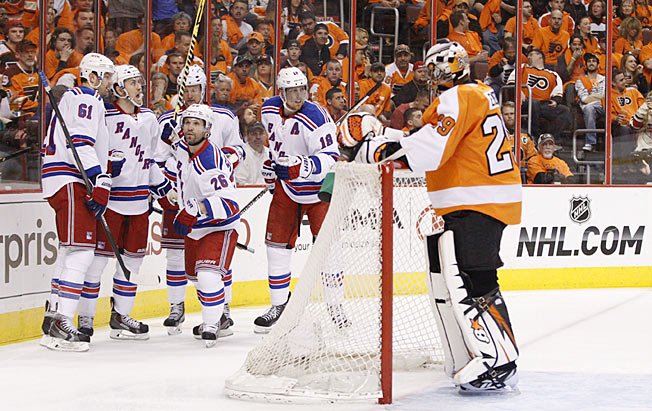 The Rangers hope to quickly close out the Flyers and avoid a grueling finish to their series.
