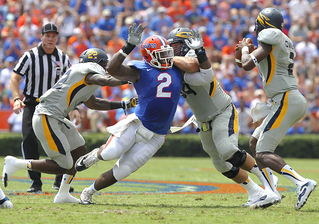 It's a shame Dominique Easley has suffered major injuries to both knees through his time at Florida, including one last September that brought his time as a college player to an early close. If he can come back from this latest setback, Easley would be an enormous asset to any NFL team -- if he'd stayed healthy throughout his time with the Gators, his unearthly combination of power and closing speed might have him, and not Clowney, as the name on everyone's mind. <italics>Draft projection: Round 1/Round 2, pending medicals</italics>