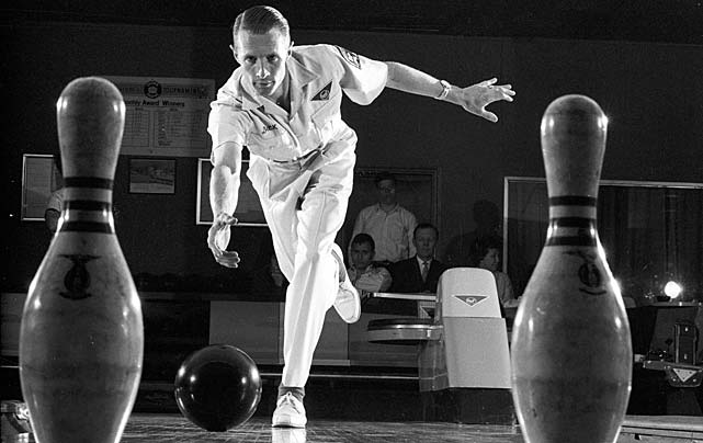 A portrait of legendary bowler Dick Weber during a photo shoot.