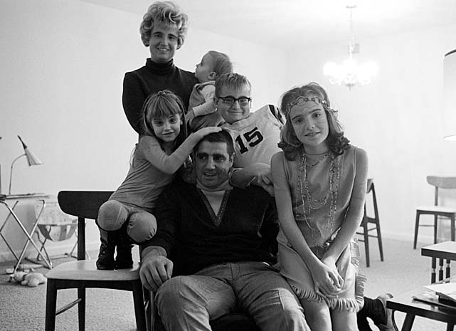 Morrall with his wife, Jane, and their children in Baltimore.