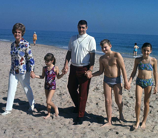 Morrall with his family on the beach in Fort Lauderdale.