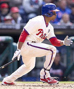 Ben Revere stole three bases in three games against the Diamondbacks last weekend.