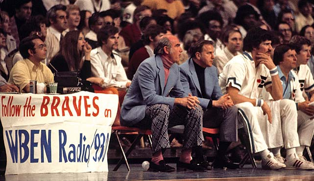 Ramsay watches his Buffalo (N.Y.) Braves from the bench. He coached them from 1972-76.