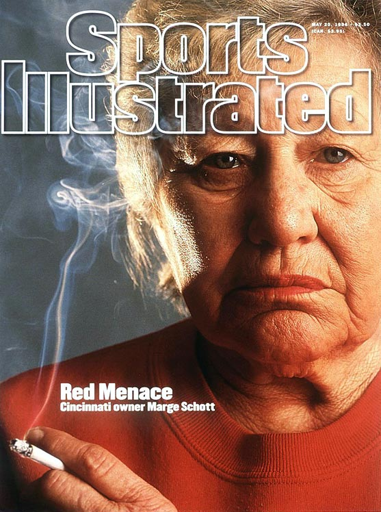 "Although she had previously received a hefty fine ($250,000) for her anti-Semitic, racist and homophobic comments, Marge Schott's tirade in 1996 was all MLB could take. The final blow came when the Cincinnati Reds owner spoke favorably of Adolf Hitler, saying he ""was good in the beginning, but went too far."" In the same month, Schott was quoted in a Sports Illustrated article as having spoken in a ""cartoonish Japanese accent"" while describing her meeting with the Japanese prime minister. She wasn't reinstated until 1998."