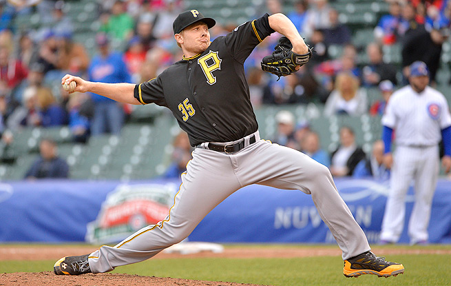 Mark Melancon will take the mound in the ninth for the Pirates while Jason Grilli is on the DL.