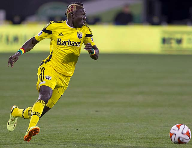 Dominic Oduro of the Columbus Crew turned heads in late April 2014 when he showed up with a replica slice of pepperoni pizza carved into his hair. Here are some other athletes who have done something similar.