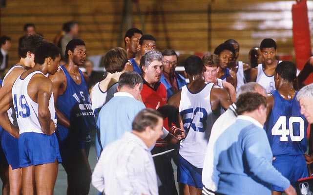 "In the spring of 1984, Indiana coach Bob Knight invited the best 72 amateur basketball players in the country to try out for the Olympics. As Karl Malone, then a burly forward at Louisiana Tech, put it to Sports Illustrated at the time, ""They said they was gettin' the best 72 and they wasn't tellin' no stories."" SI sent three photographers to cover the tryouts, which included Michael Jordan, Charles Barkley, Patrick Ewing, John Stockton and other future stars. Many of these photos are being published for the first time."