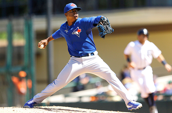 Marcus Stroman has hurled 36 strikeouts in 26 2/3 innings for the Blue Jays' Triple-A affiliate.