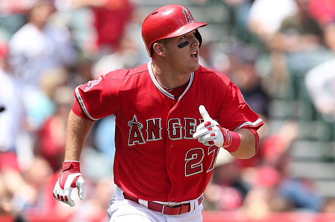 One month into his third season Mike Trout is exactly where he ended his first two: in second place in the AL MVP race.