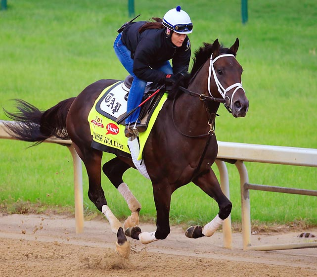 Trainer: Todd Pletcher Jockey: John Velazquez He might be the best of trainer Todd Pletcher's four Derby starters. The colt has been working very well at Churchill Downs in preparation for the Derby. He finished a troubled second on March 29 in the Louisiana Derby, a race in which Vicar's in Trouble was allowed to get loose on the lead. Before that, on Feb. 22, Intense Holiday won the Risen Star. He has ability, and is another who is likely to benefit from a hotly contested pace. He hasn't yet run well enough to beat some of his Derby rivals at their best, but he may be able to get up for a late score..