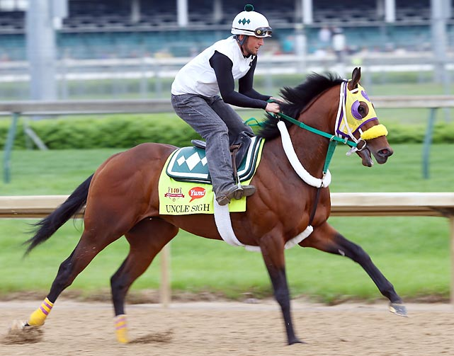Trainer: Gary Contessa Jockey: Irad Ortiz Jr. The colt -- named for Si Robertson of Duck Dynasty fame -- will be vying to become the first New York-bred to win the Derby since Funny Cide in 2003. Uncle Sigh ran wide when he finished fifth in the Wood Memorial on April 5. He's probably better than he showed in that race, but the Derby's 10 furlongs might still be too much for him.