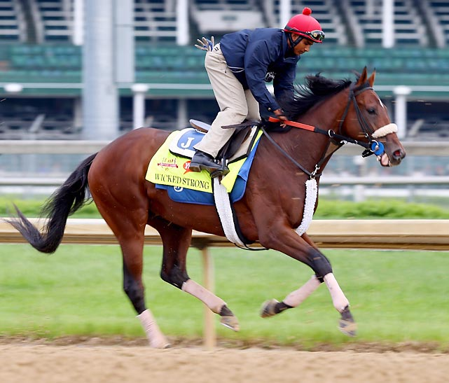 Trainer: Jimmy Jerkens Jockey: Rajiv Maragh A serious contender, he's a closer who comes from off the pace -- he was very impressive in winning the Wood Memorial at Aqueduct on April 5. He drew a terrible starting position, but Big Brown won from post 20 in 2008, and the pace on Saturday is likely to be favorable. Owner Donald Little Jr., the president of Centennial Farms of Beverly, Mass., renamed him in the wake of the 2013 Boston Marathon Bombings (his original name was Moyne Spun). Centennial Farms is donating one percent of Wicked Strong's winnings to the One Boston Fund, which supports the bombing victims and their families.