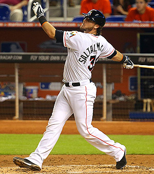 Jarrod Saltalamacchia has been on a hitting tear, getting eight hits in his last five games.