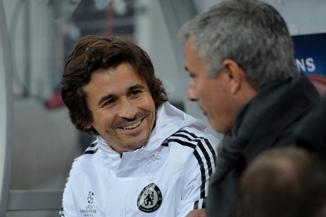 Chelsea assistant coach Rui Faria, left, has been suspended six games for verbally abusing a referee.
