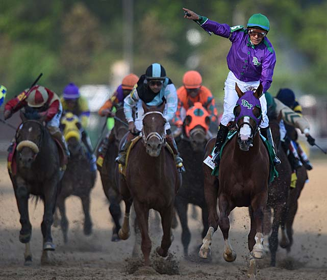 The 5-2 favorite, California Chrome pulled away down the stretch for a dominant win at the 140th Kentucky Derby. California Chrome and jockey Victor Espinoza made a decisive move and quickly sprinted clear. They finished the 1¼ miles in 2:03.66.