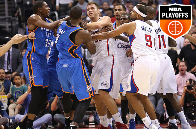 Expect the Thunder and Clips, who split their season series, to get physical in their second-round clash.