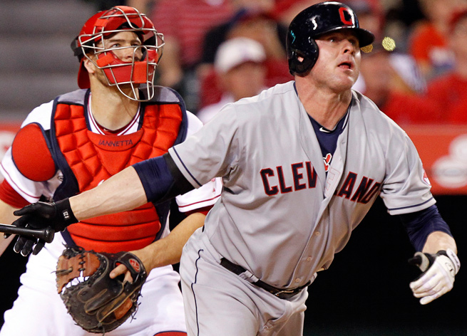 Jason Giambi has collected only 10 at-bats for the Indians this season due to injuries.