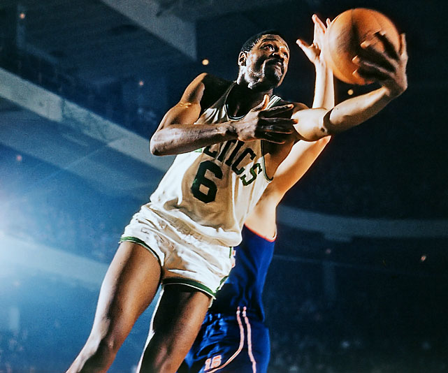The best player on the greatest dynasty in professional sports was Bill Russell. The Celtics' big man averaged 22.5 rebounds in his career; between his mastery of the glass and his shot-blocking skills, few players have been more intimidating in the paint. But the big stat is that Boston won 11 NBA titles in 13 seasons from 1956-57 to '68-69 with Russell in the lineup. Few players in any sport can match Russell's leadership and championship résumé. To purchase Any Given Number, go to SI.com/anygivennumber.