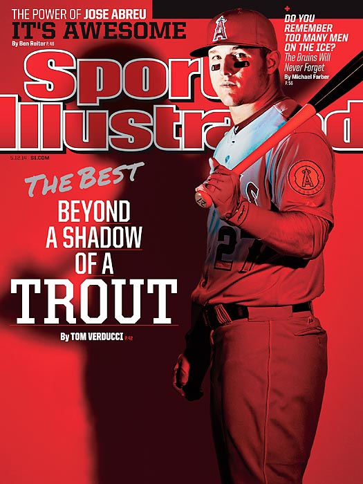 May 12, 2014  |  Baseball's best player now has his own national Sports Illustrated cover. This week's issue features Mike Trout, the Angels' superstar and the best young player in the game, as he pushes forward with a career that has already been historically great. Along the way, SI senior writer Tom Verducci tries to answer the question of just how good Trout can be.