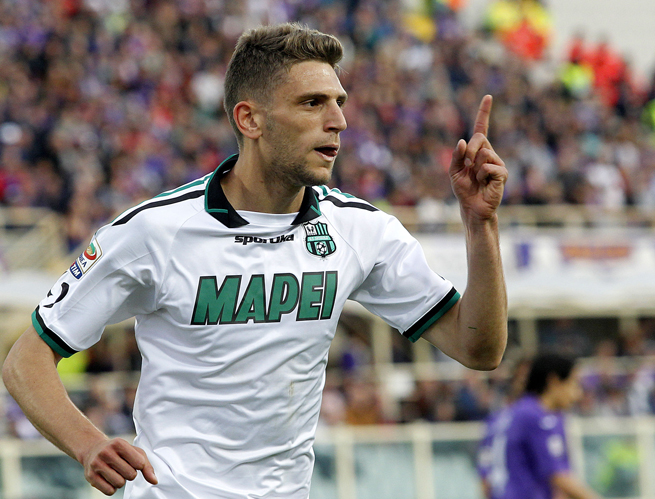 Domenico Berardi, 19, notched his third hat trick of the season in Sassuolo's win over Fiorentina on Tuesday.