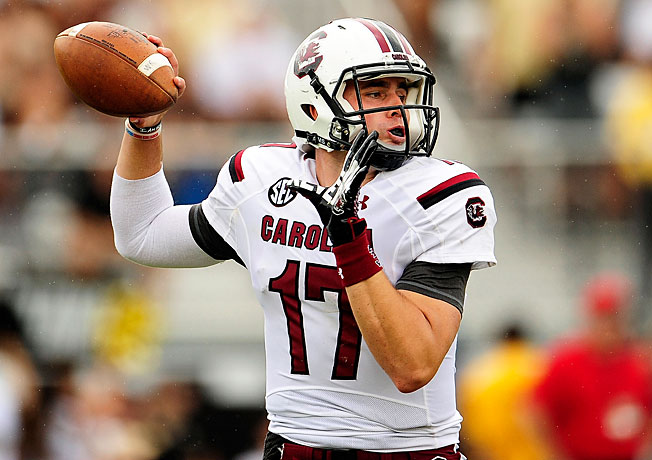 A two-star prospect in the class of 2010, Dylan Thompson will be South Carolina's starting QB this fall.