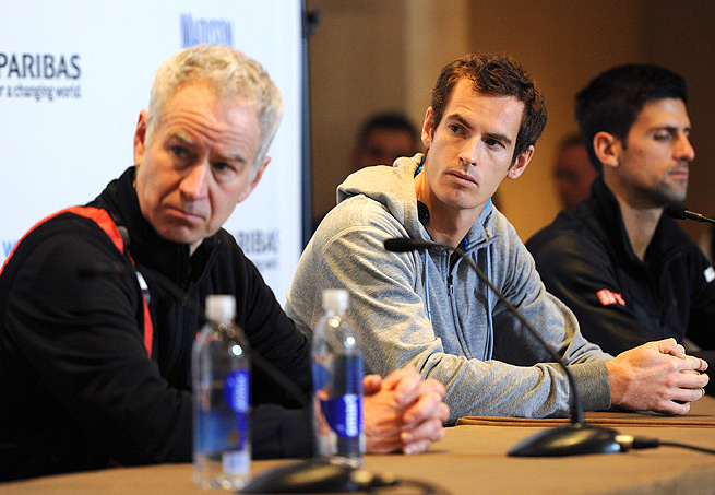 John McEnroe has expressed interest in coaching Andy Murray, who split with Ivan Lendl in March.