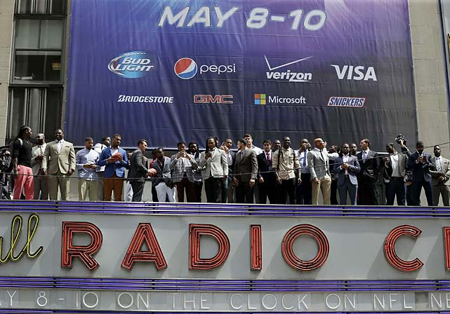 Thirty players were invited to New York for this year's draft.