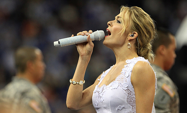 "Leann Rimes will have to follow an emotional rendition of ""Back Home Again in Indiana"" by Jim Nabors."