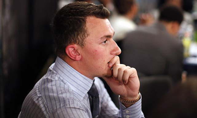 Heisman-winning quarterback Johnny Manziel had an agonizing wait until Cleveland traded up to pick him.