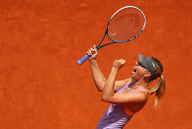 Maria Sharapova has been steady all week and has lost just three times on clay since the 2011 French Open.