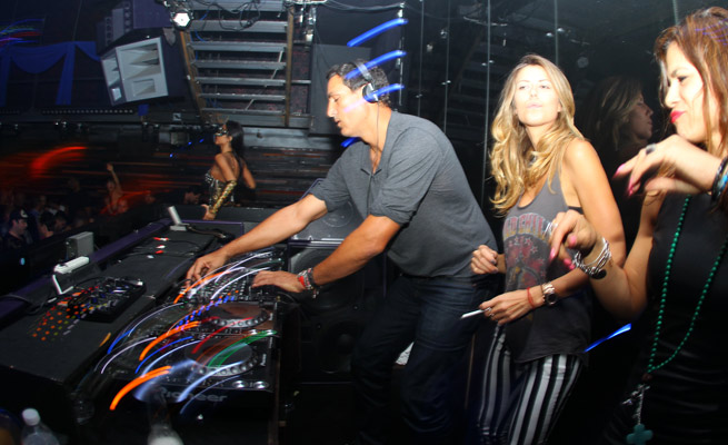Rony Seikaly is seen performing at the New York club 'Masquerade' during his birthday last year.