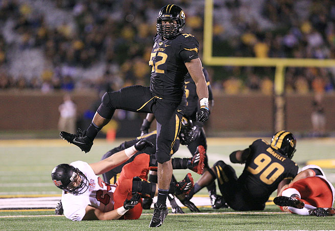 Michael Sam's seventh-round selection puts him in an uphill battle for playing time in St. Louis.
