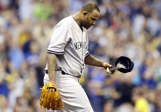CC Sabathia's season is made even more difficult as he hits the 15-day DL with knee inflammation.