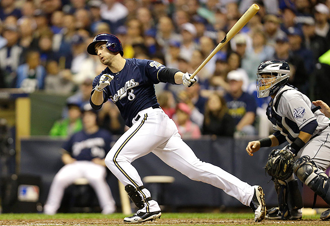 Before he hit the DL with a strained oblique, Ryan Braun was hitting .318 with six homers and 18 RBI.