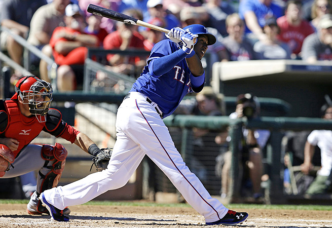 Jurickson Profar suffered a shoulder injury in spring training and has yet to make his 2014 debut.