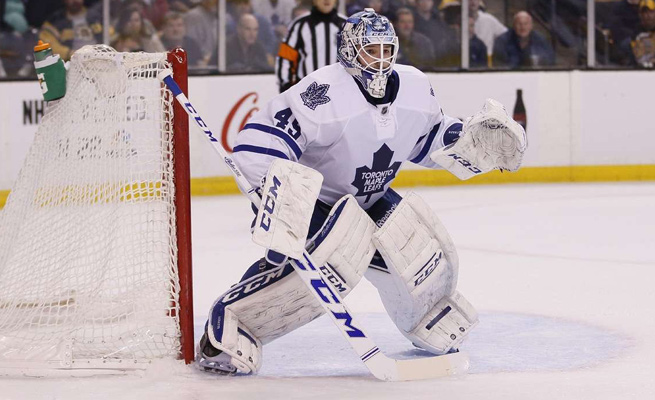 Jonathan Bernier seized the starting role for the Maple Leafs this season, his first with Toronto.