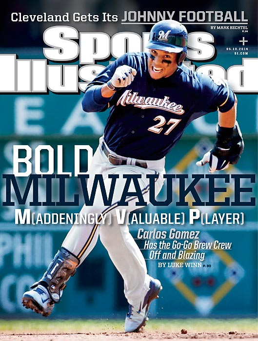 Flamboyant, outspoken and one of baseball's best players: Carlos Gomez has raised a lot of attention as the table-setter for the Brewers, and his rise from former top prospect to MVP candidate has him gracing one of the regional covers of the May 19 issue of Sports Illustrated.