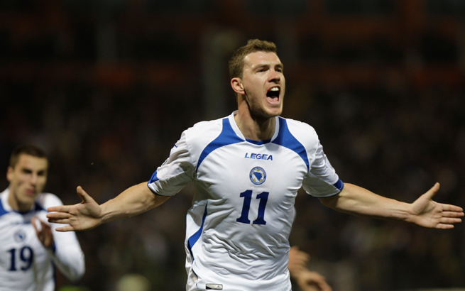 Manchester City forward Edin Dzeko holds the key to Bosnia-Herzegovina's hopes this summer in Brazil.