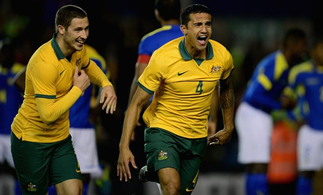 The Red Bulls' Tim Cahill is one of few veterans on a youthful Australia squad for the 2014 World Cup.