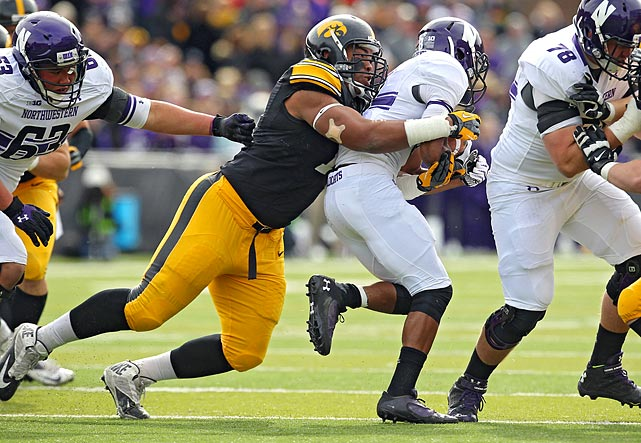 Our second Iowa Hawkeye and third Big Ten player. Right now, this is higher than most would place Davis, but he improved dramatically last season and should continue on that upward course. Davis is on the tall end for a DT at 6-5, though at 315 pounds and with surprisingly nimble feet he can clog the middle.