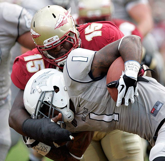 Especially stout against the run, Edwards finished last season with 9.5 tackles-for-loss and 3.5 sacks despite missing time with a hand injury. He's really hard to move when teams want to head his direction. Edwards now stands at around 280 pounds (and 6-3), though he was above 300 before getting to Florida State. His NFL future may be as a 3-4 lineman.