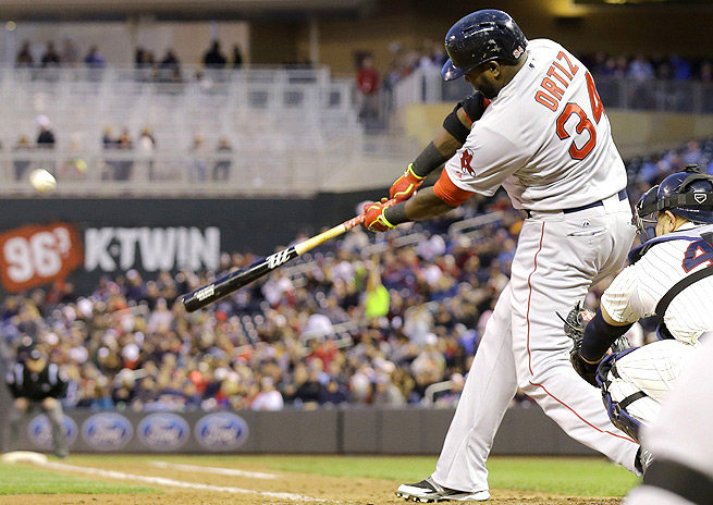 David Ortiz crushed four home runs over the course of two games against the Minnesota Twins.