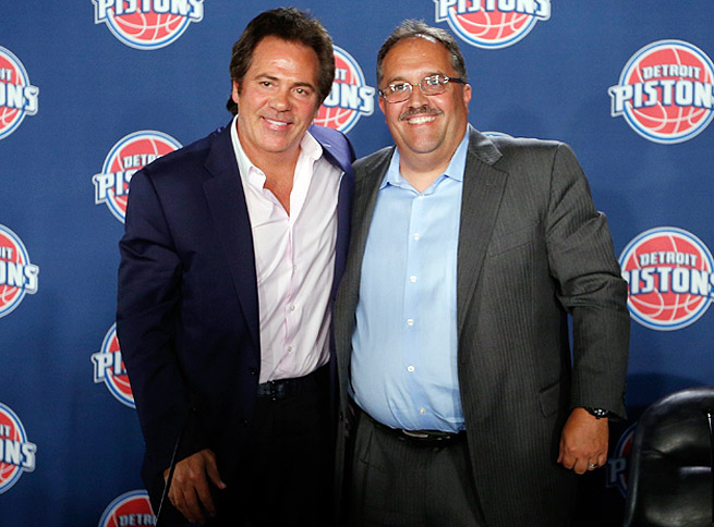 Pistons owner Tom Gores (left) has given Stan Van Gundy a lot of authority to shape a struggling team.